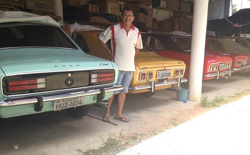 Há 40 anos, Sandoval é apaixonado por Corcel (FOTO: Roberta Tavares/Tribuna do Ceará)