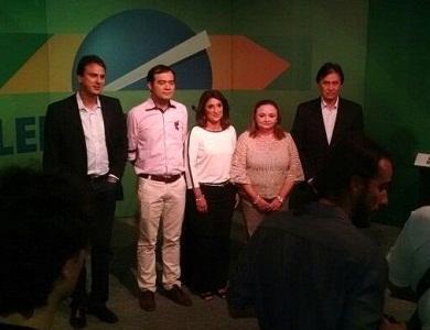 Debate da Nordestv foi o primeiro com candidatos ao governo do Ceará realizado fora de Fortaleza (Foto: Divulgação)