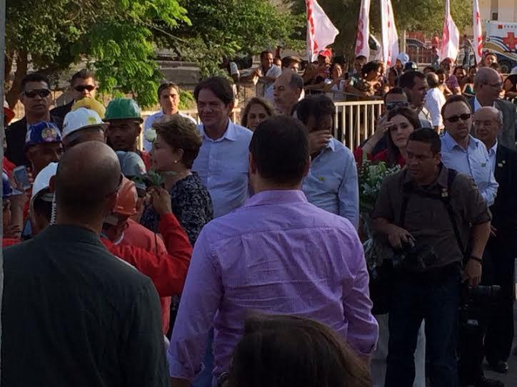Dilma faz breve passagem por Fortaleza e não se encontra com candidatos a governo (FOTO: Marco Meireles)