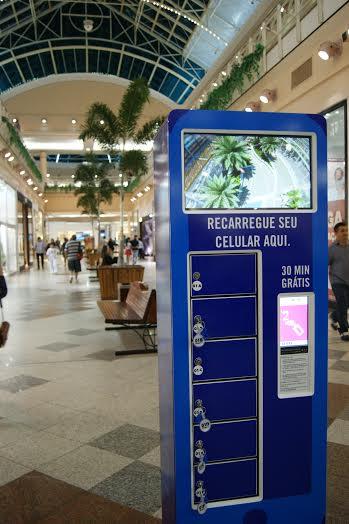 Charge Box em shopping