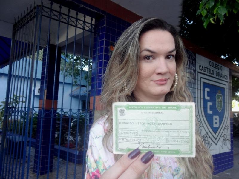 Dia de eleitor de uma travesti