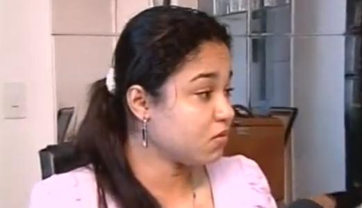Amanda Cruz em entrevista ao programa Barra Pesada. (Foto: Reprodução/TV Jangadeiro)