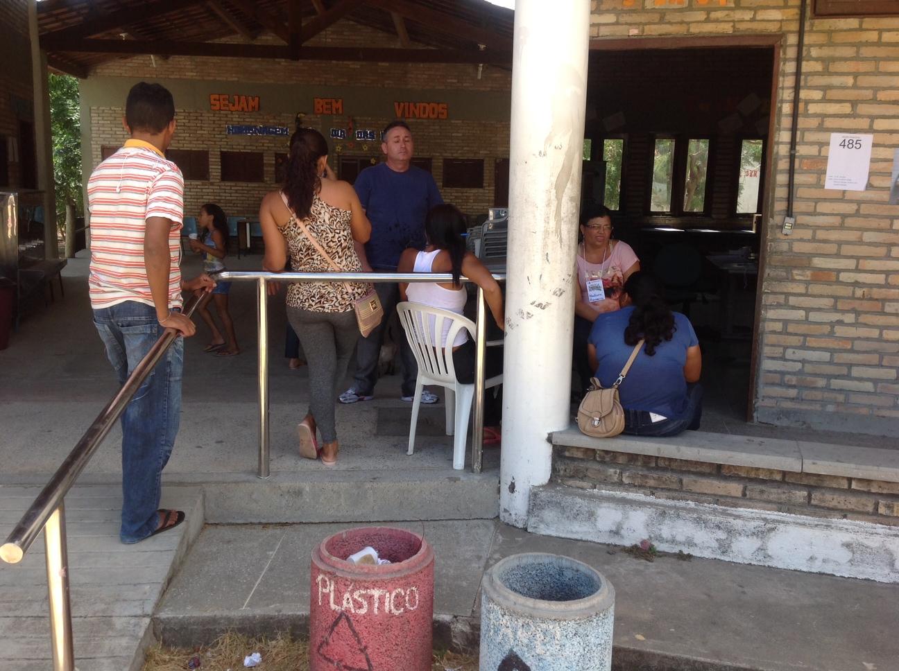 O colégio indígena recebe poucos eleitores durante o turno da manhã (FOTO: Lucas Catrib)