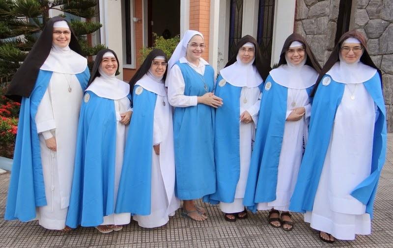 São raros os momentos em que as irmãs concepcionistas se deixam fotografar (FOTO: REPRODUÇÃO)