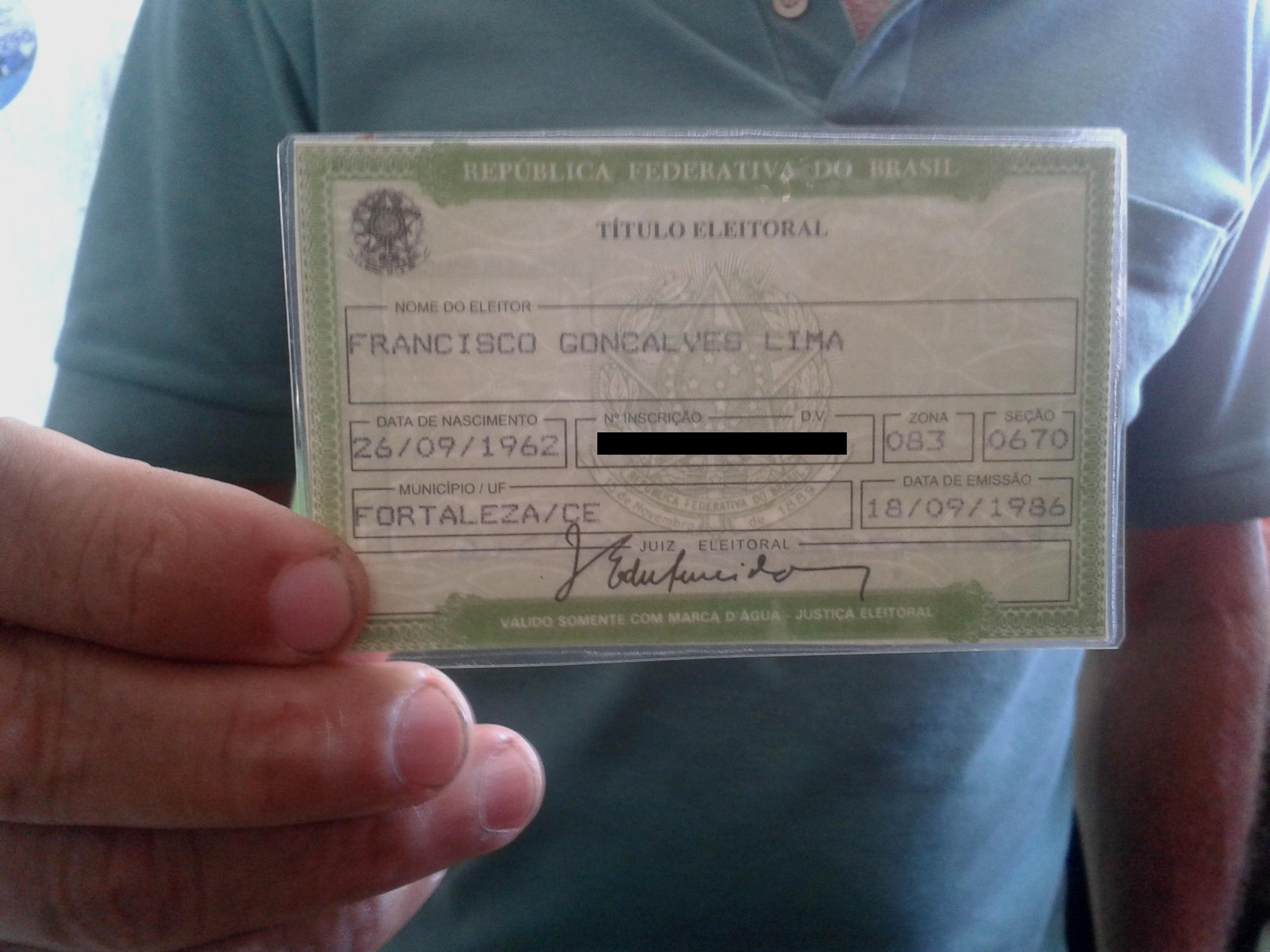 Francisco Gonçalves não pôde registrar seu voto (FOTO: FRAN LIMA)