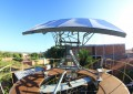 O painel solar móvel possui 7m² e gera 6,5 kilowatts. (FOTO: Gabriel Andrade)