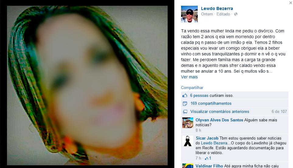Durante depoimento, militar negou versão apresentada pela esposa (FOTO: Reprodução/Facebook)