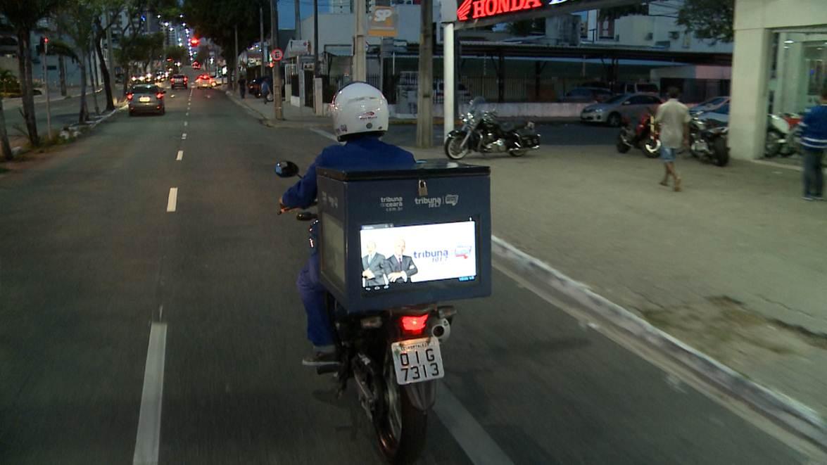 Sistema Jangadeiro desenvolve novo canal de informação ao público através de uma moto