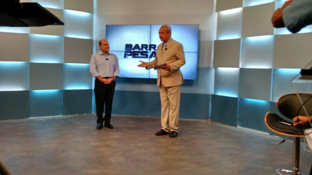 Roberto Cláudio é entrevista no Barra Pesada (FOTO: Tribuna do Ceará)