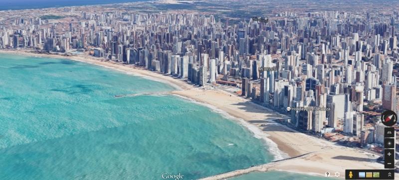 Cidade pode ser vista em imagens de alta qualidade (FOTO: Reprodução/Google)