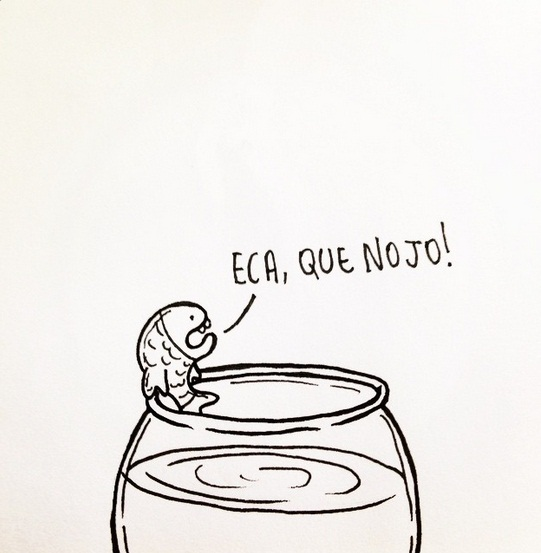 Peixe Fresco - As ilustrações podem ser acompanhadas no perfil do instagram @jararipe (FOTO: Reprodução)