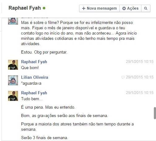 CONVERSA ENTRE LILIAN E RAPHAEL