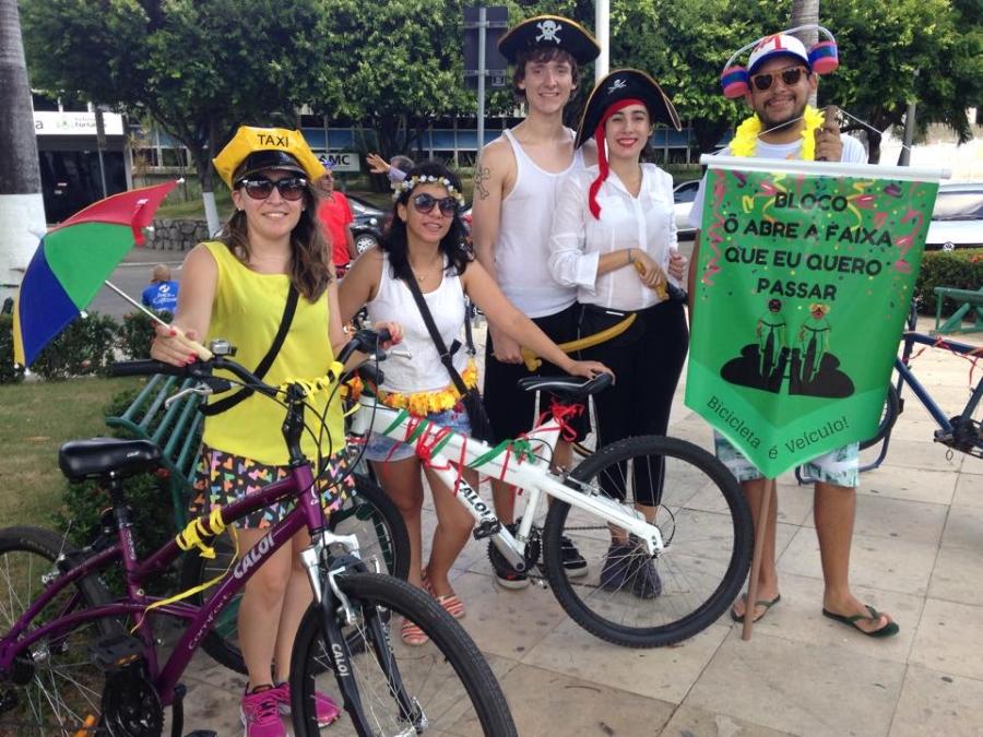 Bloco pretende chamar a atenção para a importância da bicicleta como meio de transporte (FOTO: Tribuna do Ceará/Tribuna do Ceará)
