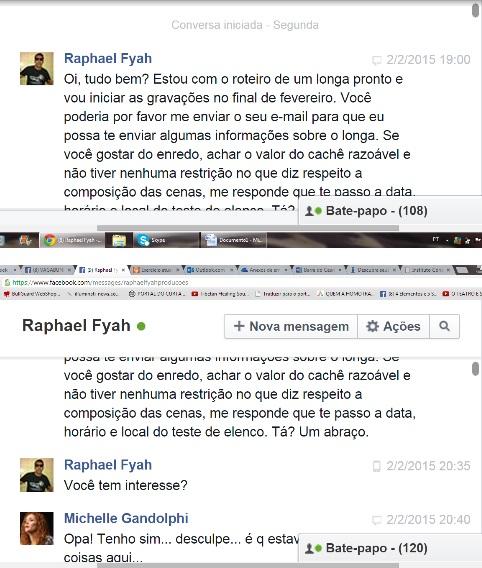 CONVERSAS DE MICHELLE E RAPHAEL