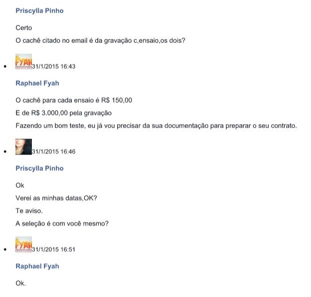 CONVERSA ENTRE PRISCYLLA PINHO E RAPHAEL