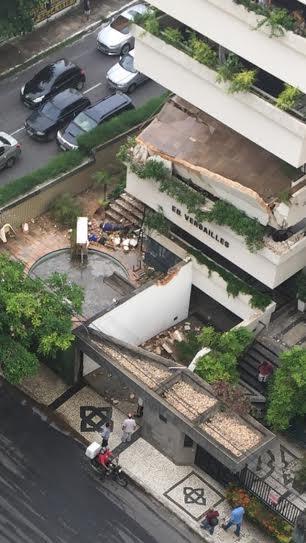 Acidente em varanda de edifício ocorreu em 2 de março (FOTO: Reprodução/Whatsapp)