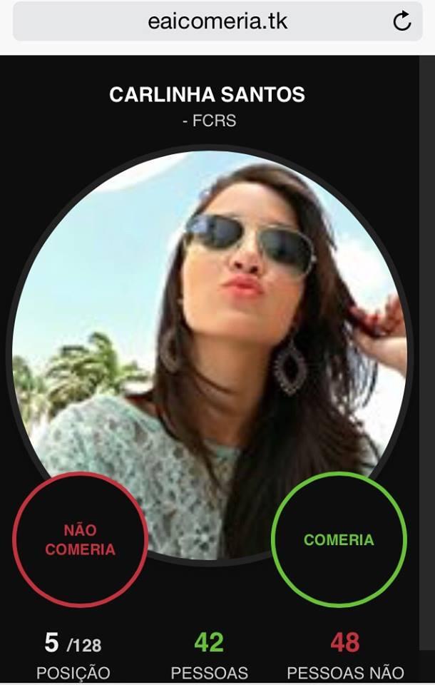 Carla Santos autorizou a publicação da imagem no Tribuna do Ceará (FOTO: Reprodução eaicomeria.tk)