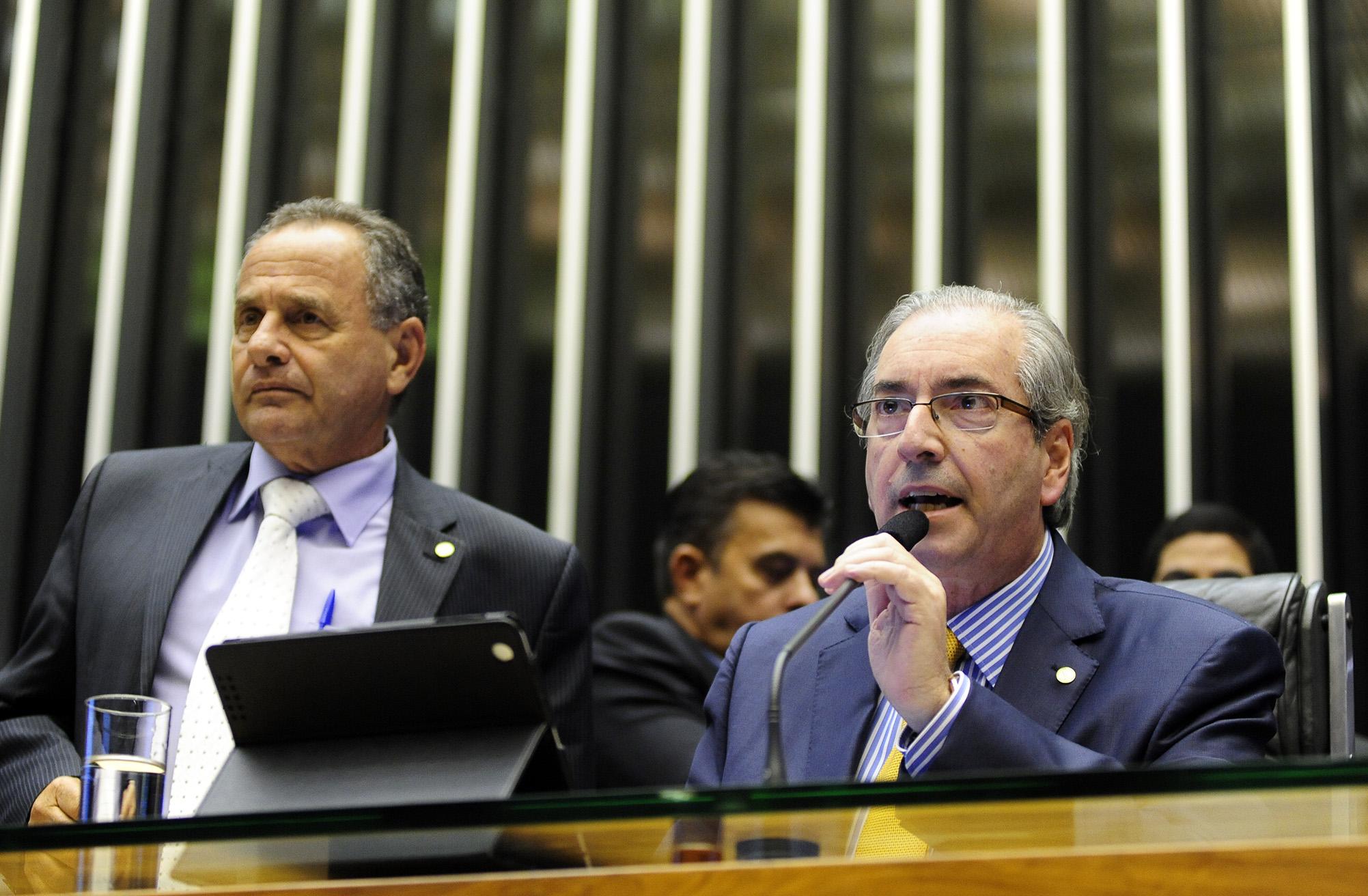 Eduardo Cunha anunciou demissão, após Cid Gomes deixar Plenário (FOTO: Gustavo Lima / Câmara dos Deputados)