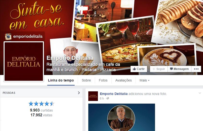 Página oficial no Facebook