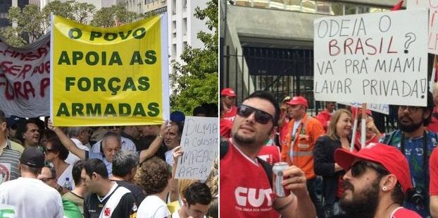 Os dois lados da disputa política no Brasil têm argumentos condenáveis (FOTO: Reprodução)