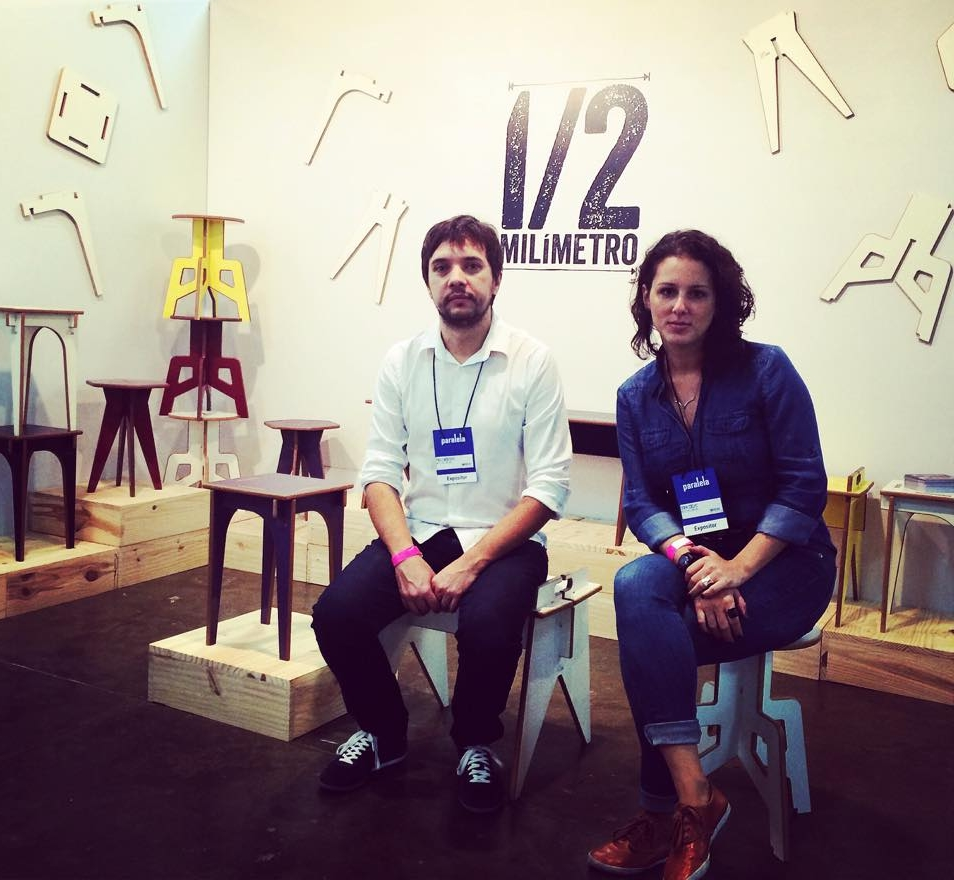 Dora Coelho e Paulo Monteiro lançaram linha de bancos de encaixe e começam a fazer sucesso em São Paulo (FOTO: Arquivo pessoal)