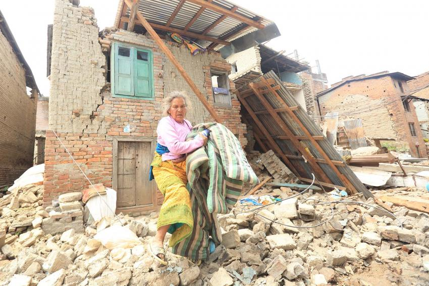 Destruição no Nepal