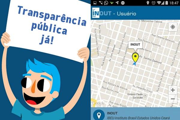 Cerca de 700 pessoas já utilizam o Inout, que está disponível para download em Android e IOs (FOTO: Divulgação)