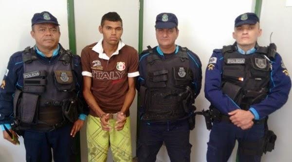 Jovem publicou vídeo na internet ameaçando policiais e foi preso menos de 24 horas depois (FOTO: Ipu Notícias)