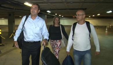 Francilewdo Bezerra foi ao Recife buscar o filho (FOTO: Reprodução Nordestv)