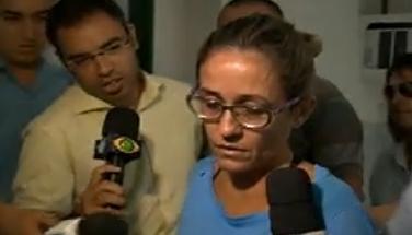 Cristiane Coelho está presa em cela separada das outras detentas (FOTO: Reprodução/TV Jangadeiro)