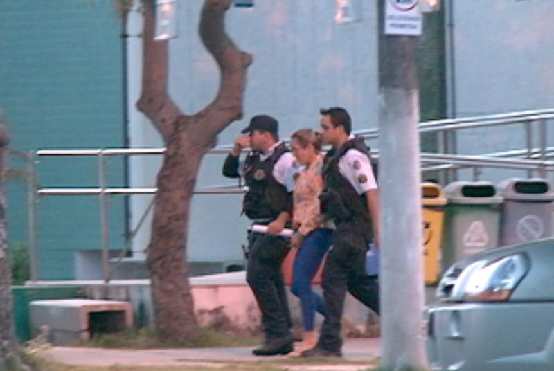 Cristiane se entregou no dia 8 de maio, no Fórum Clóvis Beviláqua, em Fortaleza (FOTO: Reprodução/TV Jangadeiro)