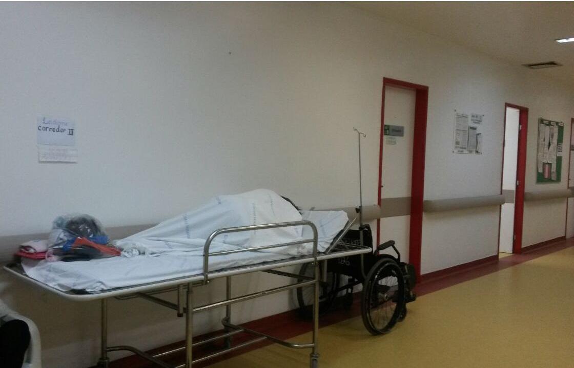No Hospital Geral de Fortaleza, os leitos são identificados nas paredes dos corredores. (FOTO: Cremec)