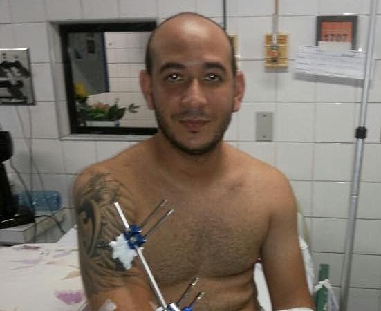 Higor Kaleb recebe apoio de familiares e amigos da Polícia Militar (FOTO: Divulgação)