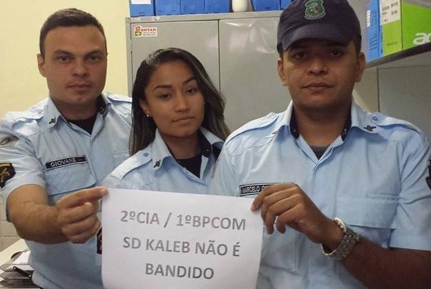 Policiais militares fazem campanha contra prisão de PM (FOTO: Reprodução/Facebook)