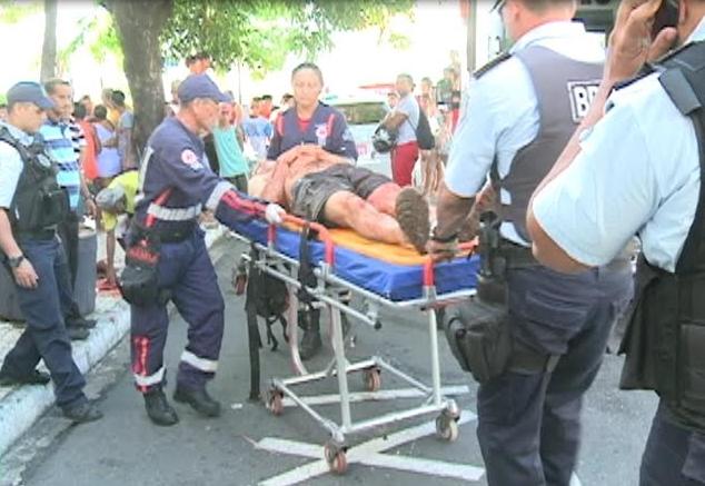 Turista uruguaio foi esfaqueado depois de tentar resistir ao assalto (FOTO: Reprodução/TV Jangadeiro)