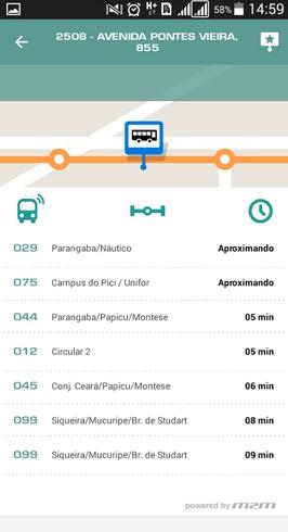 Aplicativo objetivo de oferecer aos usuários as informações sobre os horários de chegada dos veículos nos pontos de parada. (FOTO: Prefeitura de Fortaleza)