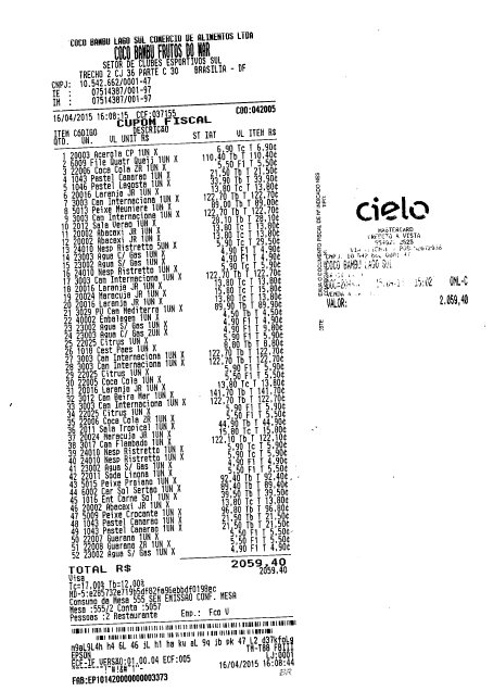 José Airton apresentou nota de mais de R$ 2 mil, mas a Câmara não deixou passar (FOTO: Reprodução)