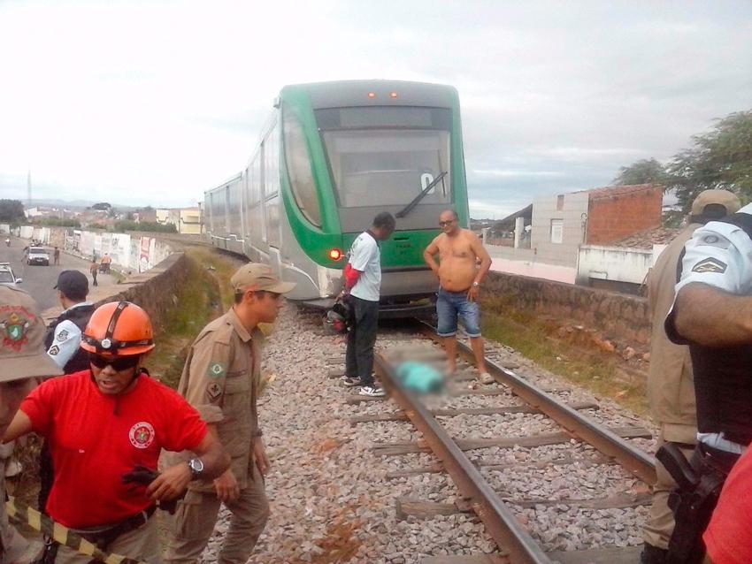 Criança é atropelada por metrô em Juazeiro do norte (FOTO: Via Whatsapp)
