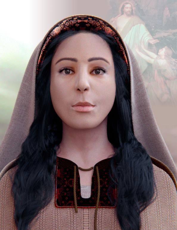 O trabalho de reconstituição do rosto da santa teve duração de 2 meses e participação de três brasileiros. (FOTO: Reprodução)