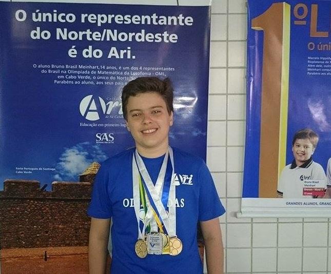 Esta foi a primeira vez que Bruno Brasil Meinhart participou da competição. (FOTO: Arquivo Pessoal)