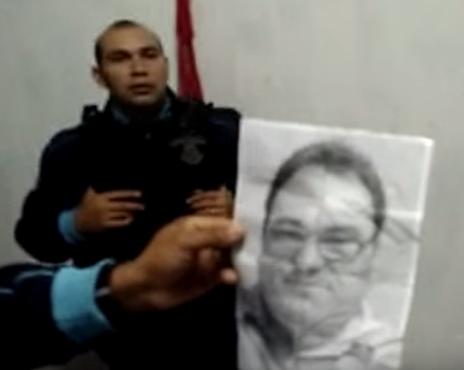 Na residência utilizada pelos suspeitos, foi encontrada fotografia do radialista (FOTO: Camocim Polícia 24 horas)