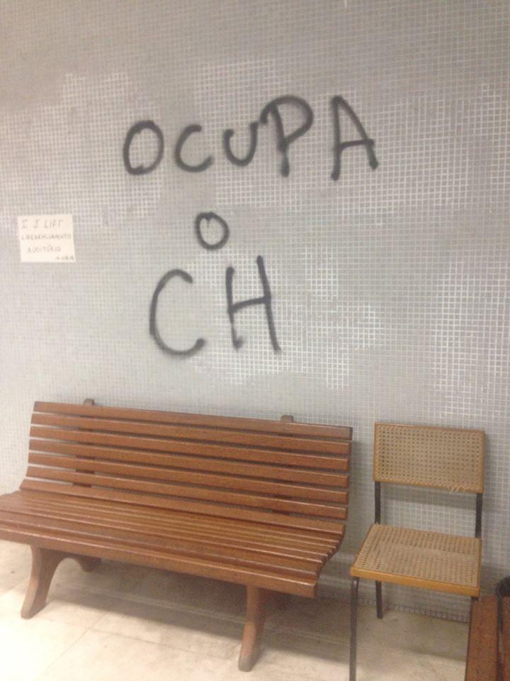 Ocupação de alunos protesta contra a diretoria do Centro de Humanidades da Uece