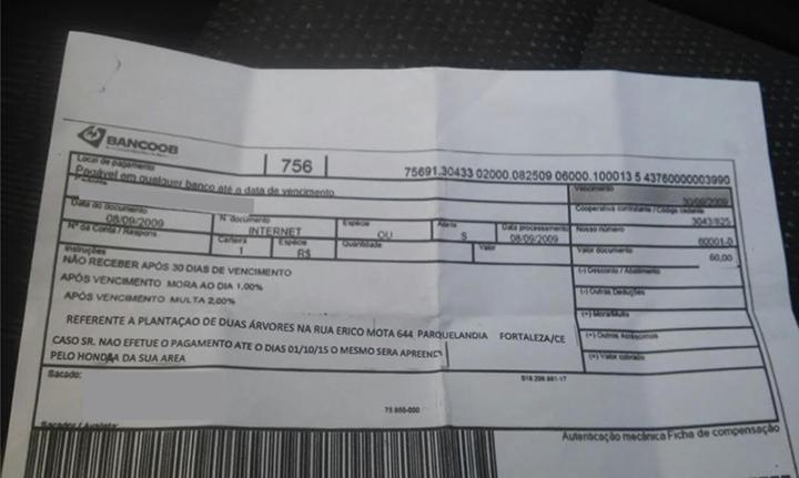 Boleto falso foi enviado para moradores da região do novo binário (FOTO: Divulgação)