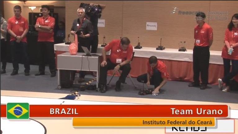 A delegação cearense é composta pelos professores Alan Vinícius Batista e Pedro Henrique Miranda e pelos alunos Weverton Lima e Aílton Silva (FOTO: Divulgação/IFCE)