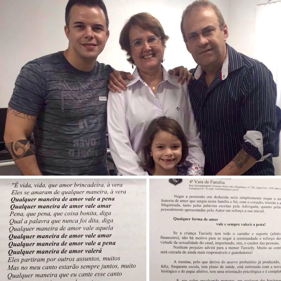 Paulo Diógenes comemora guarda da filha em rede social (FOTO: Reprodução Facebook)
