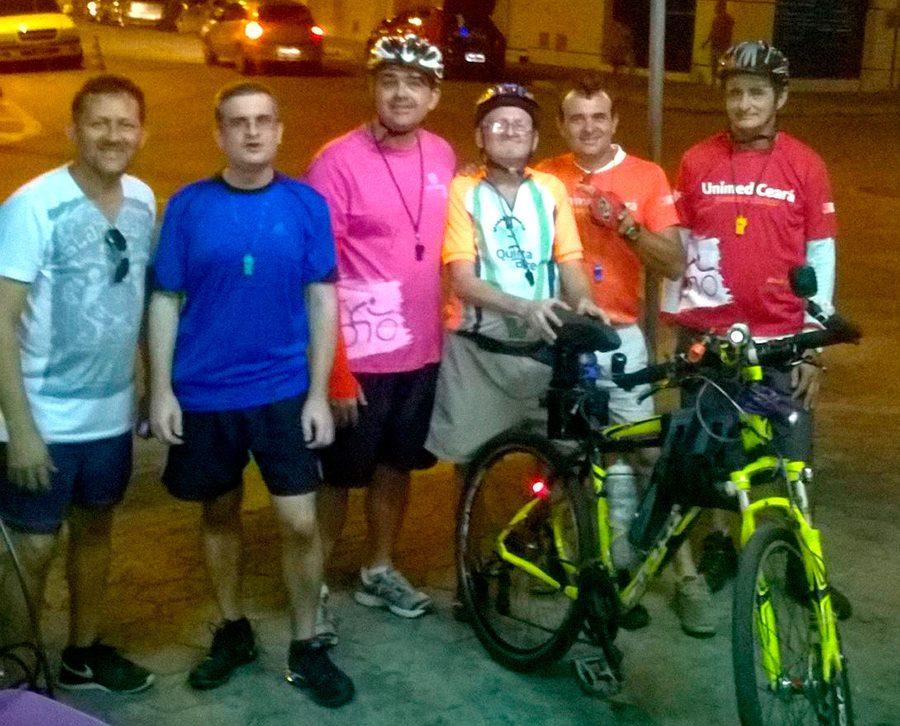 Xuxa e amigos ciclistas em última pedalada por Pacatuba (FOTO: Reprodução)