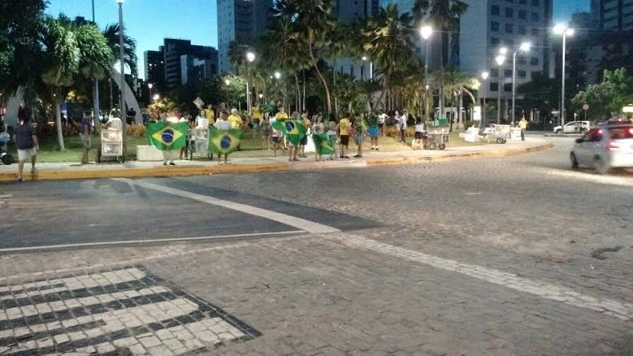 Número de pessoas foi bem inferior a outras manifestações (FOTO: Carlos Henrique/ Tribuna Band News FM)