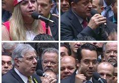 11 parlamentares cearenses votaram contra o impedimento e nove a favor (FOTO: Reprodução/TV Câmara)