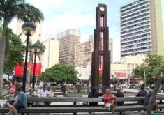 Praça do Ferreira leva nome de ex vereador de Fortaleza (FOTO: Reprodução TV Jangadeiro)
