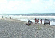 Um dos afogamentos aconteceu na Praia do Futuro (FOTO: Reprodução/TV Jangadeiro)